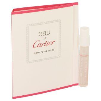 Image of   Eau De Cartier Goutte De Rose by Cartier - Vial (sample) .1 ml - til mænd