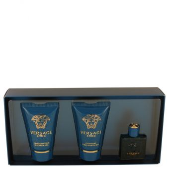 Image of   Versace Eros by Versace - Gift Set . Mini EDT + . Showe Gel + . After Shave Balm - til mænd