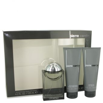 Image of   Pierre Cardin Legend by Pierre Cardin - Gift Set Cologne Spray + After Shave Balm + Shower Gel - til mænd