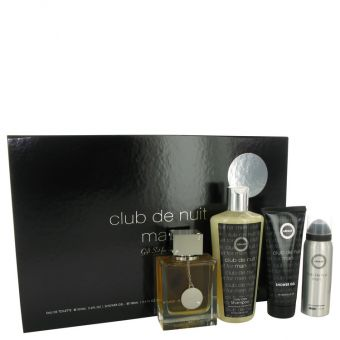 Image of   Club De Nuit by Armaf - Gift Set Eau De Toilette Spray + Body Spray + Shower Gel + Shampoo with Conditioner - til mænd