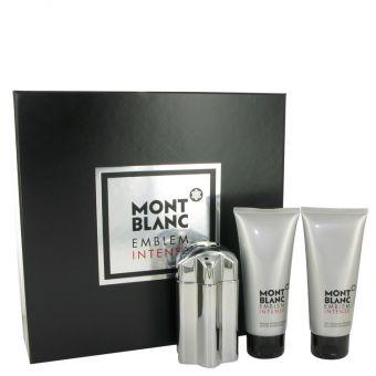 Image of   Montblanc Emblem Intense by Mont Blanc - Gift Set Eau De Toilette Spray + After Shave Balm + Shower Gel - til mænd